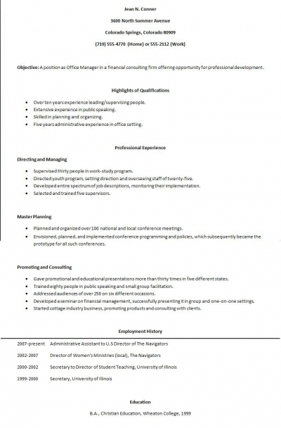 Writing A Functional Resume
