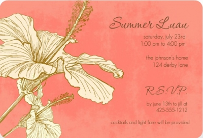 The Rounded Corners Add An Elegance These Luau Party Invitations Would Be Perfect Of A Rehearsal Dinner Or Bridal Shower