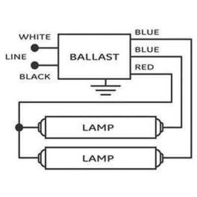 Wiring Fluorescent Lights In Parallel Diagram