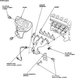2000 honda civic engine diagram 7 ways to a german language how replace the exhaust manifold on all 1996 fig early model