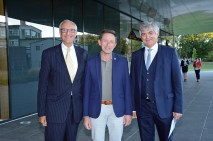 Repräsentanten der Partnerschaft Siemens - FH St. Pölten, Department Bahntechnologie und Mobilität
