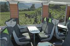 Wichtig für das Bahnerlebnis: Große Fenster, gute Aussicht, moderner Komfort