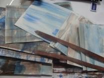 Papier met acryl-inkt - tyvek strips