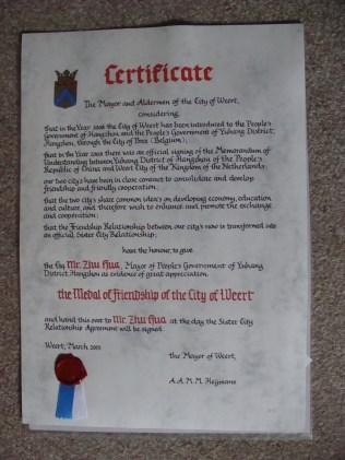 Certificaat - Certificate