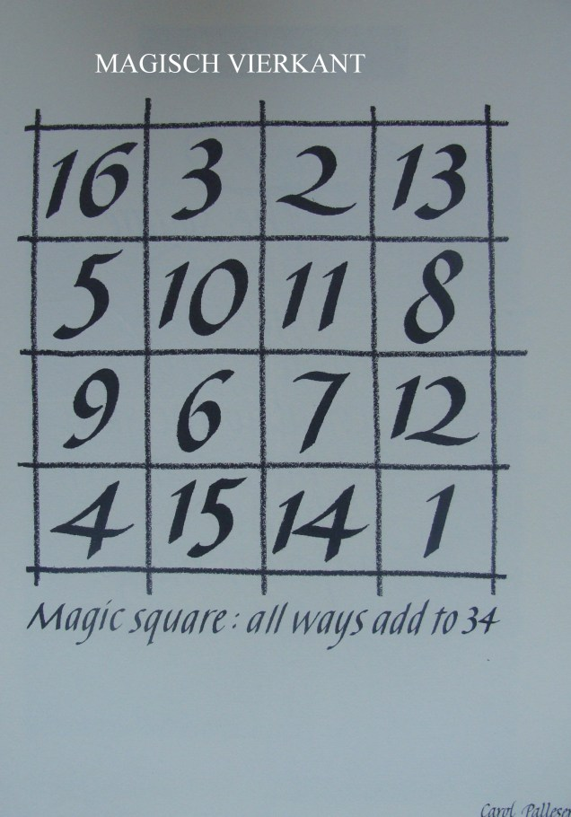 magisch vierkant - magic square