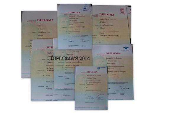 DIPLOMA'S 2014