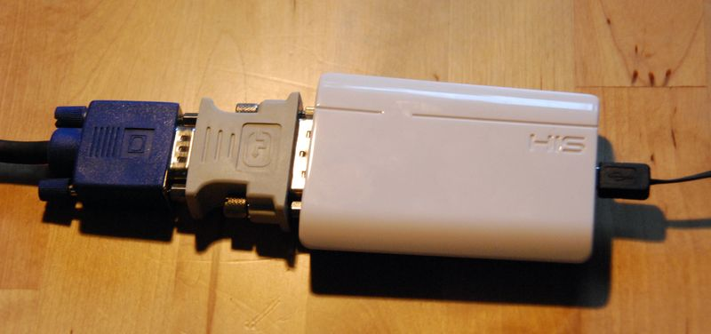 der angeschlossene DisplayLink-Adapter