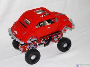 Lego Käfer auf Offraod-Fahrgestell 9398Lego Käfer auf Offraod-Fahrgestell 9398