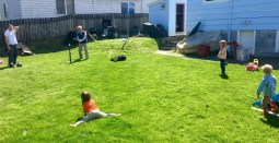 practice in the back yard