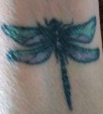 Ann's dragonfly tattoo