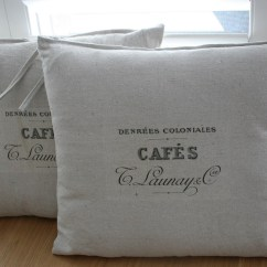 Chair Cushions Tie On Steelcase Node Vintage Cafe Drop Cloth Back Knot All That I Seam