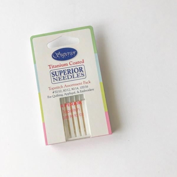 Superior Threads Titanium-Coated Needles, 90/14