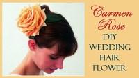 DIY Wedding Hair Flower - Carmen Rose - Knot For Life