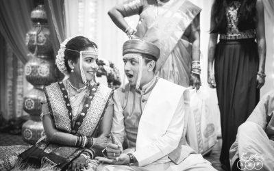 Anuradha & Ameya: Black & White Wedding