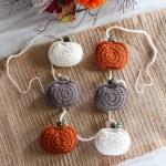 Rustic Crochet Pumpkin Garland Free Pattern The Knotted Nest