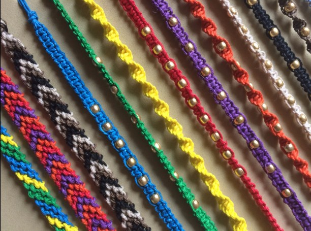 macrame bracelets with beads diy tutorial