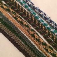 hemp cord bracelets, macrame, kumihimo