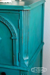 Peacock Blue Cabinet (SOLD) | Knot Too Shabby Furnishings