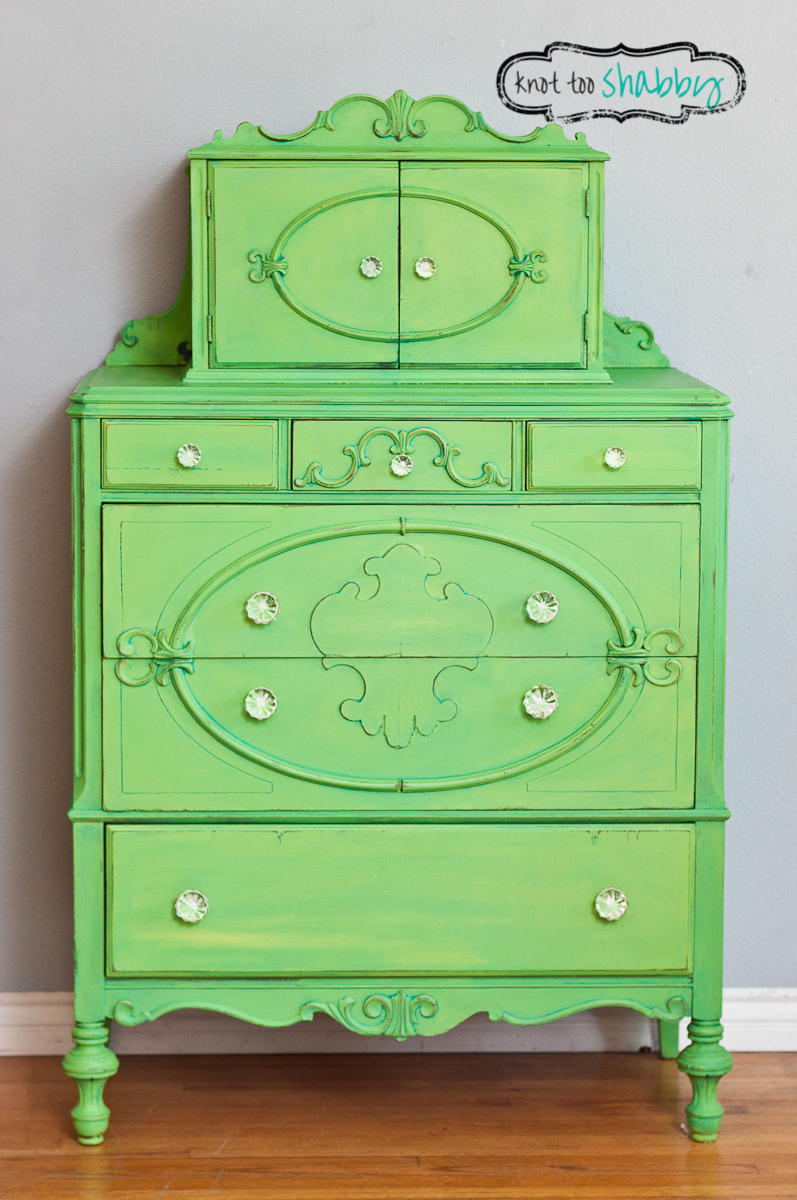 Antique Granny Smith Green Dresser SOLD  Knot Too