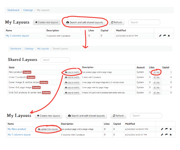 Search-Layouts