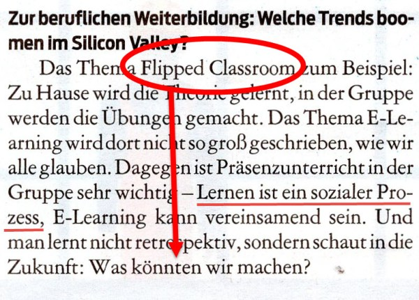 Flipped Classroom statt eLearning?