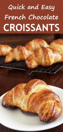Quick And Easy French Chocolate Croissants