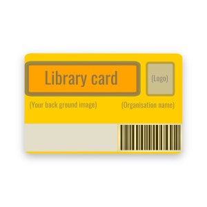 Library barcode cards