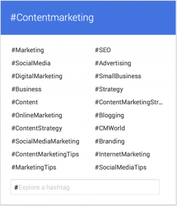Google Plus Related Hashtags
