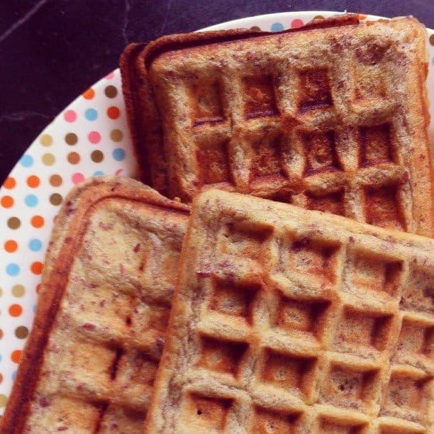 Gluten Free Peanut Flour Waffles