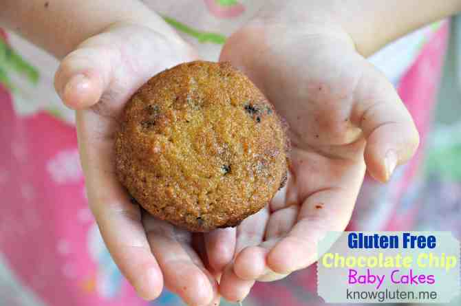 Gluten Free Chocolate Chip Baby Cakes with Coconut Flour from knowgluten.me