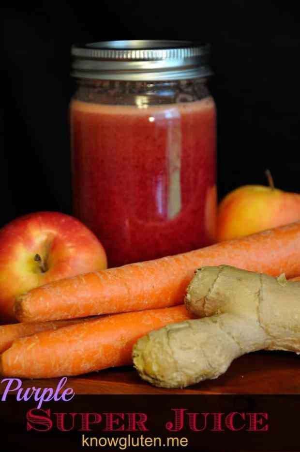 Gluten Recovery Purple Super Juice from knowgluten.me