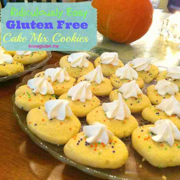 Ridiculously Easy Gluten Free Cake Mix Cookies From Knowgluten.me