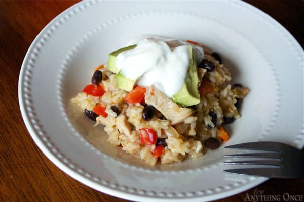 Arroz con Pollo from Try Anything Once - Totally gluten free, just make sure you use a gluten free broth.  {click the picture for the recipe}