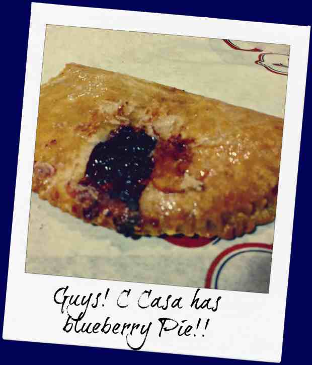 know gluten in Northern California - blueberry hand pie from C Casa in Napa - TO DIE FOR