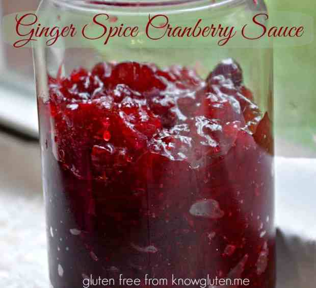 ginger spice cranberry sauce- an easy homemade cranberry sauce with fresh ginger and cinnamon