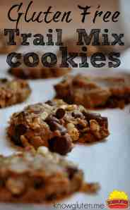 gluten free, peanut free sun butter trail mix cookies from knowlguten.me