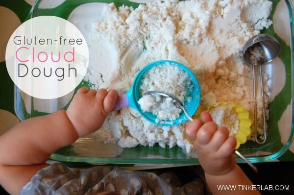 Gluten Free Cloud Dough from Tinkerlab. Click the picture to go to the recipe!