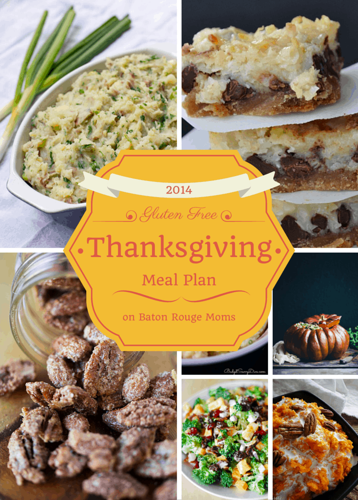 Gluten Free Thanksgiving Meal Plan from knowgluten.me on Baton Rouge Moms