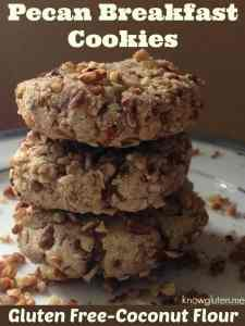 gluten free pecan breakfast cookies with coconut flour-recipe from knowgluten.me