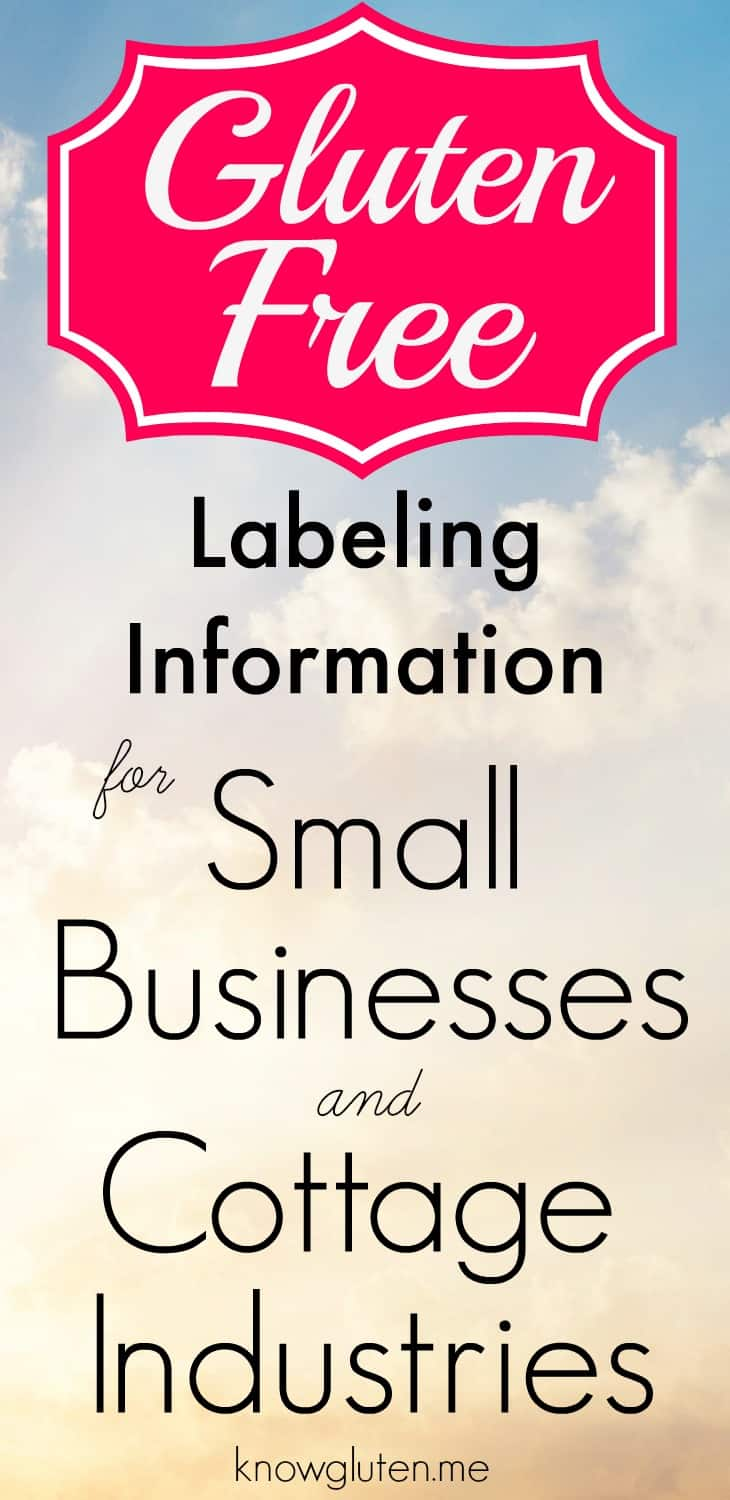 Gluten Free Labeling Information for Small Businesses