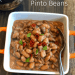 closeup of a bowl of pinto beans