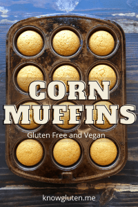 gluten free, vegan corn muffins in a muffin tin
