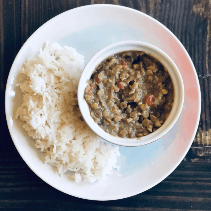 Creamy Lentils in the Pressure Cooker - Gluten Free, Vegan
