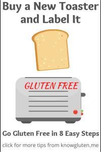 buy a new toaster and label it gluten free