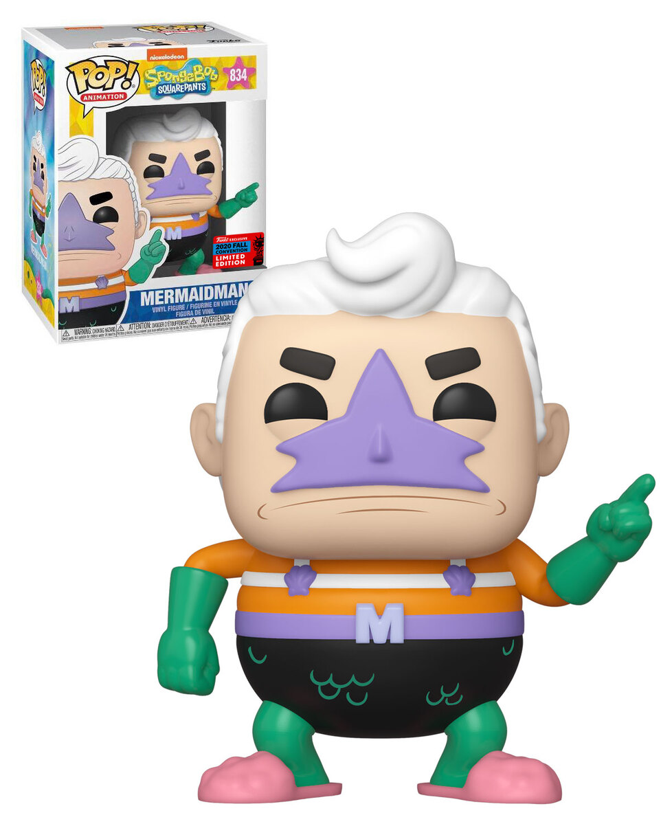 Mermaid Man Funko Pop : mermaid, funko, Animation:, SpongeBob, Squarepants, Mermaidman, Vinyl, Figure, Funko, Exclusive