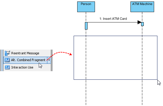 uml sequence diagram alternate flow 220 stove plug wiring using alternative combined fragments in visual create an alterative fragment