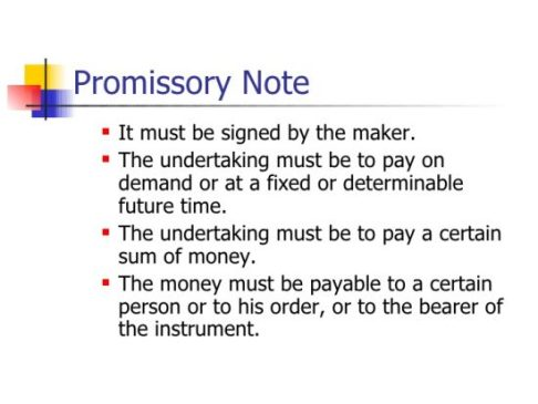 What Exactly Is A Promissory Note?