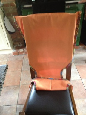 Travel chair seat for a toddler - front view