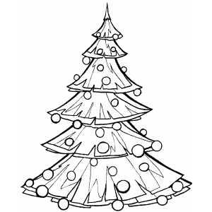 ภาพระบายสี : ต้นคริสต์มาส [Christmas Tree]