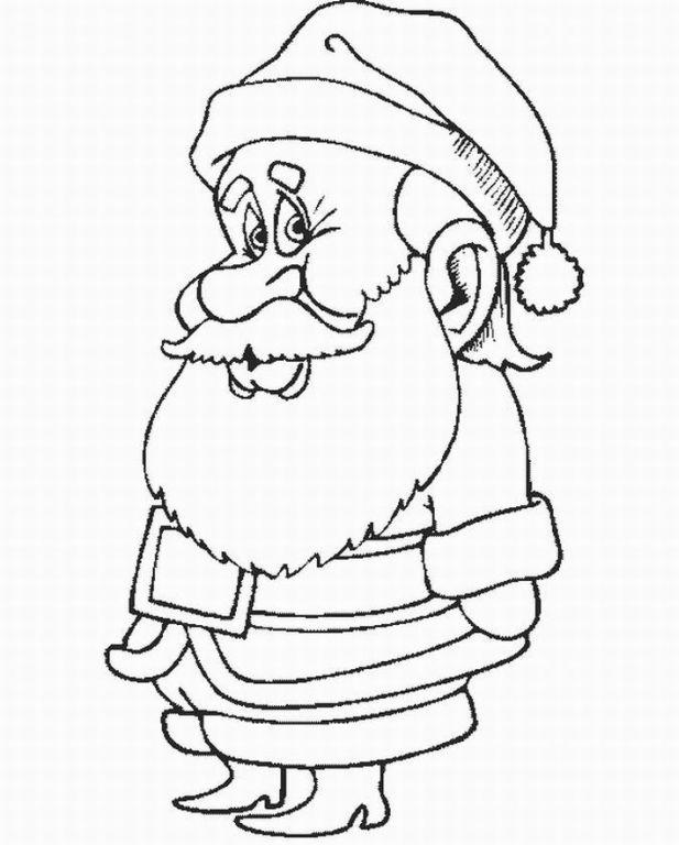ภาพระบายสี : ซานต้า [Santa Claus]
